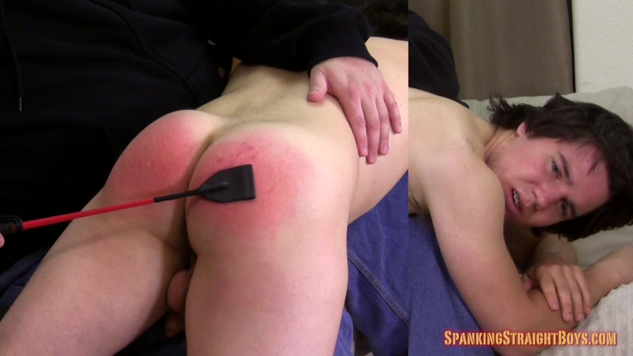 Blonde twink does a bad thing and stepdad spanks his ass to make him remember it for a very long time